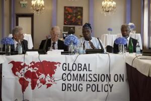 Fernando Henrique Cardoso, Jorge Sampaio, Olusengun Obasanjo and Kofi Annan - GCDP/Rebecca Bowring