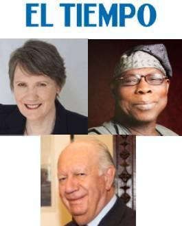 Helen Clark, Olusegun Obasanjo y Ricardo Lagos - El Tiempo